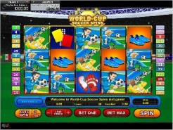 Play World Cup Soccer Spins Slots now!