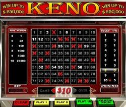 Keno Online for Real Money
